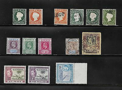Queen Victoria Onwards Collection Of Gambia Stamps Used And Unused