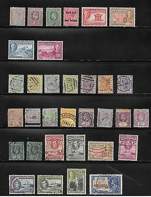 Queen Victoria Onwards Collection Of Gold Coast Stamps Used & Unused