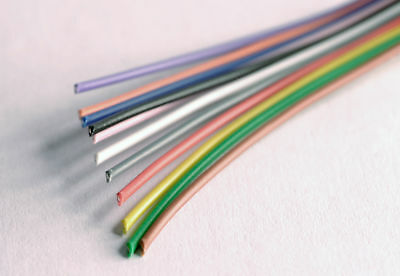 Solid Single Core Hook up Wire 11 different colours 1m of each (11m total)