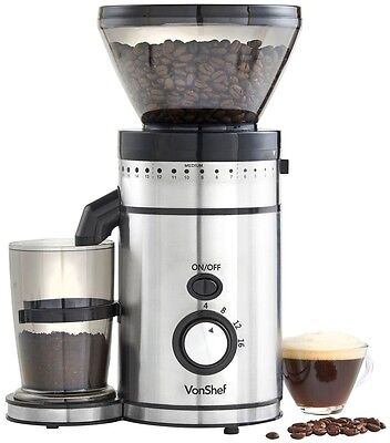 Electric Burr Whole Coffee Bean Grinder Mill Grinding Countertop Kitchen Tool