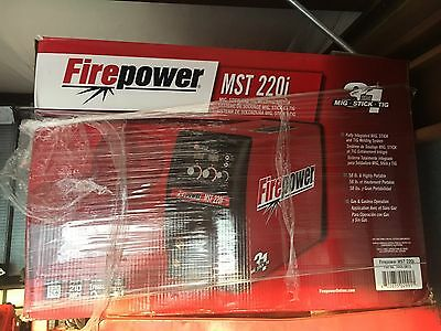 Firepower MST 220i, black and red, Welding Power supplies. Gas tank sold with it