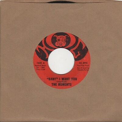 Moments - Baby I Want You / Pray For Me - Hog 1000 - Northern Soul Crossover Mot