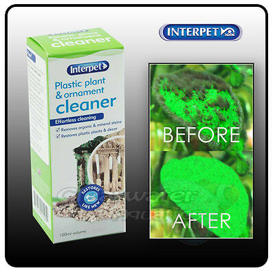 Interpet Plastic Plant Ornamnet Cleaner Clean Hair Algae Fish Tank Aquarium Deco