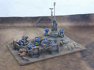 warhammer 40k terrain,scenery  aegis defence with comm's tower.