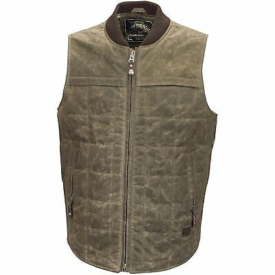 Roland Sands Design Men's Ranger Waxed Cotton Ringo Motorcycle Vest
