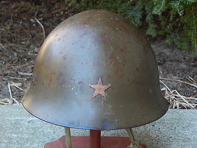 WW2 WWII JAPANESE TYPE 90 HELMET COMPLETE w/ LINER NICE CONDITION BIG SIZE