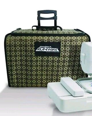 Project runaway rolling Sewing Machine Tote Bag Carrying Case -extendable handle