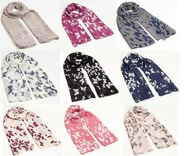 Ladies Women's Girl's Scarf Wrap Butterfly Birds Animals Print Free UK P&P