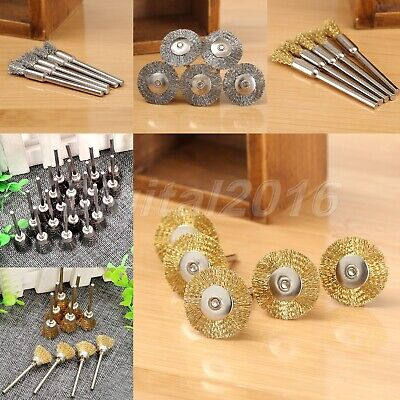 40pcs Copper Wire Cup Polishing Wheel Mix Brush Kit Rust Removal  Rotary Tool