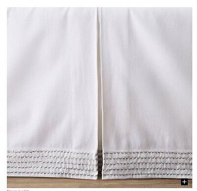 NEW Restoration Hardware Baby&Child White Cotton Linen Crib Skirt