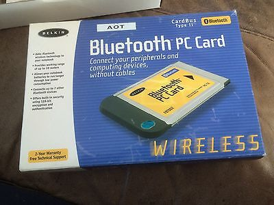 Belkin Bluetooth PC Card Cardbus Type II
