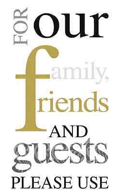 FAMILY FRIENDS...PLEASE USE 16 Paper Guest Towels by IHR, Black, Gold