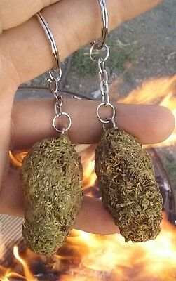 SALE! Single Love Buds Faux Cannabis Decorative Keychain  Made in Oregon