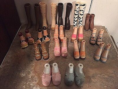 Free Shipping~Lot Of Bratz Shoes~(16) Pairs Of Shoes, Boots & Slippers