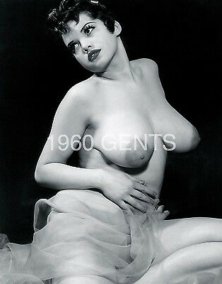 1950s 8X10 NUDE BIG BREASTS NIPPLES ROSINA  PHOTO FROM ORIGINAL NEG-5 RARE!