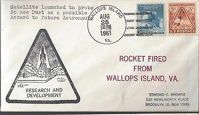 8/25/61 Launch of Satellite to probe for Dust Wallops Explorer 13