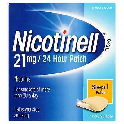 NICOTINELL 21 Mg/24 Hour Step 1 Nicotine Patch - 7 Day Supply + 1 Extra
