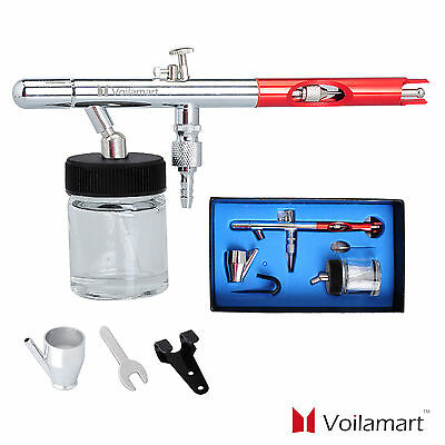 Airbrush Spray Gun Kit Tattoo Nail Tool Dual Action Paint Suction Feed 0.35MM