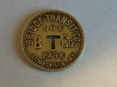 Louisville Kentucky Bridge Transit Company One Way Fare Double Sided Coin Token