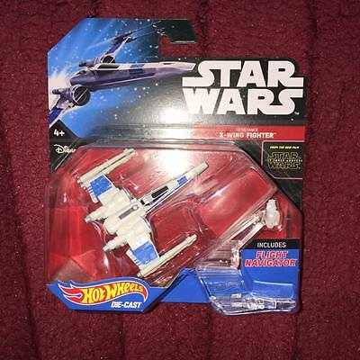 resistance x wing fighter star wars  HOT WHEELS DIE CAST NEW SEALED