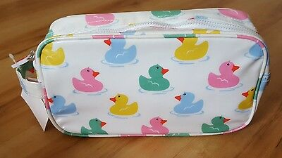 BNWT Cath Kidston Rubber Duck Wash / Toiletry / Make up Bag