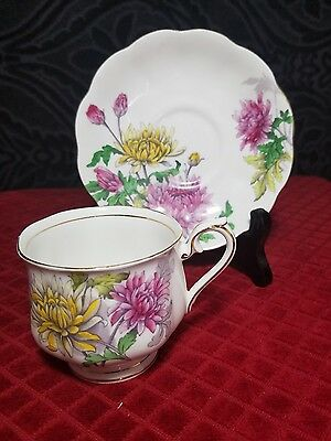 Royal Albert Chrysanthemum Cup And Saucer Flower Of The Month