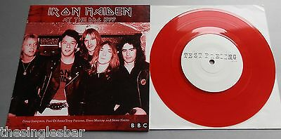 "Iron Maiden - At The BBC 1979 Red Vinyl White Label Test Press 7"" Single"