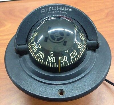 Ritchie Compass navigation. Black. EXPLORER FLUSH MOUNT easy install