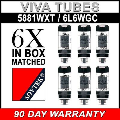 Brand New Plate Current Matched Sextet (6) Sovtek 5881WXT / 6L6WC Vacuum Tubes