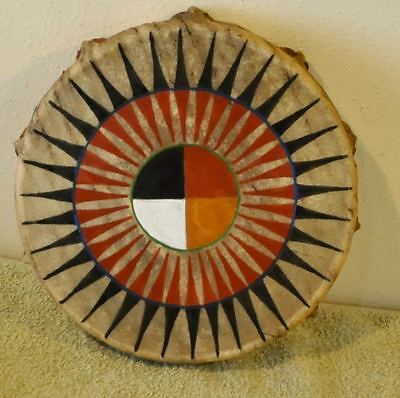 Medicine Wheel /Native American Drum Painted by Lakota Artist Sonja Holy Eagle