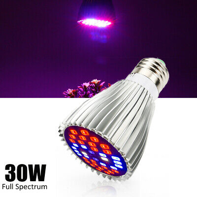 4PCS 28W E27 Full Spectrum LED Grow Lampe Licht Pflanzenlampe Wachstum IR UV DE