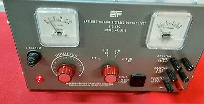 WORKING Electro-Technic Variable Voltage Power Supply Model 9115 DC AC Used