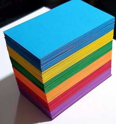 600 ct. Mulicolored Blank Business Cards 24 lb - 3.5 x 2 Tags / Crafts / Cards