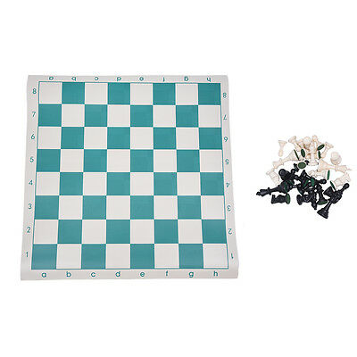 Travel Portable 50.5*50.5cm Standard Game Plastic Chess Set Foldable Board G8K7