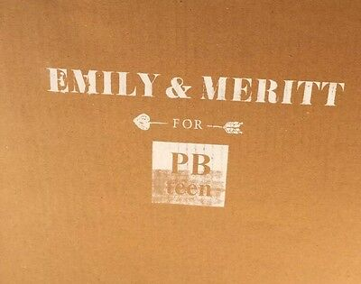 NEW Pottery Barn Teen Emily & Meritt Crown Lamp GOLD