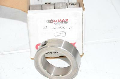 Lot of 5 NEW CLIMAX METAL PRODUCTS 2C-200-S Shaft Collar, Clamp, 2'' , SS