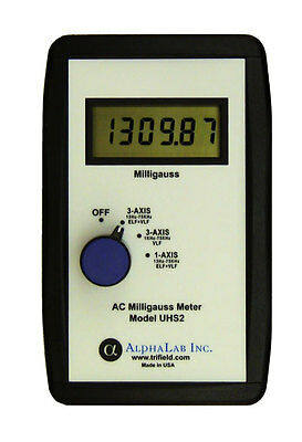 Alpha Labs Switchable 3 Axis and 1 Axis Gaussmeter - Measures AC Magnetic Fields