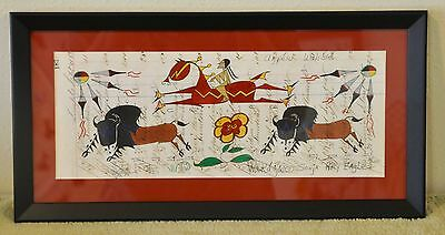 Anpetu Wahste/Native American Ledger Art by Lakota Artist Sonja Holy Eagle