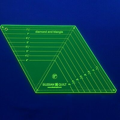 Template for Patchwork: Diamond and triangle 8 inches