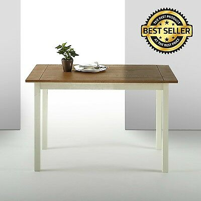 Farmhouse Wood Dining Table Kitchen Room Breakfast Home Furniture Pine Wood NEW