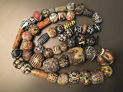 String of Ancient Beads ~ Ancient Islamic / Sassanian /  Late Roman