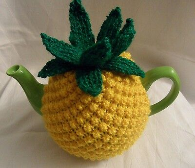 Hand Knitted Pineapple Tea Cosy For Medium Size Tea Pot