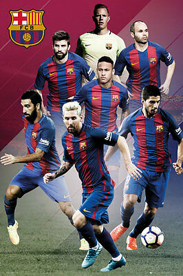 Barcelona FC Poster - Players 16/17 - New Barcelona Football poster SP1400