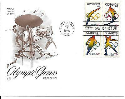 Scott #1695-8 - 1976 Winter Olympics FDC