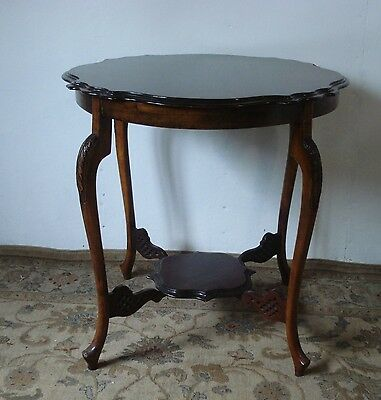 Lovely Antique Edwardian 2 Tier Occasional Side  Table - Somerset -  Ta20