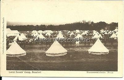WW1 Macpherson Unused Postcard - Lovat Scouts Military Camp Beaufort - Horses