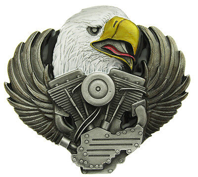 Eagle And V-Engine (Biker) Belt Buckle In a Presentation Box.