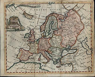 Europe Russia Turkey Poland France Germany Spain 1760 rare Pomarede antique map