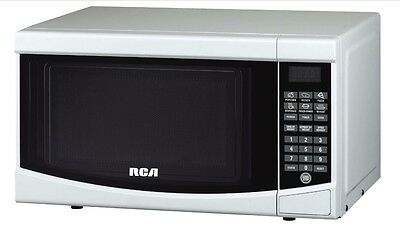 RCA 0.7 cu. ft. Microwave Oven White Digital Kitchen Countertop 700 Watts