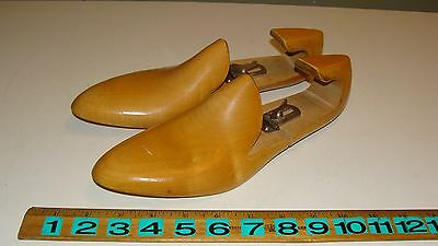 Pair of Vintage MacKay Adjustable Wood Size 8D Shoe Form Trees - Shoe Stretchers